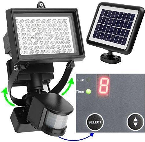 136 opinioni per MicroSolar Riflettore ad energia solare 80 LED- Batteria a Litio- con controllo