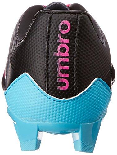 Umbro Velocita Club Hg - Botas de Fútbol de material sintético hombre negro - Noir (Cz8-Noir/Rose/Bleu)