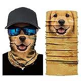 Glumes Face Mask Half Sun Dust Protection|Vivid 3D Animal Tube Mask Seamless|Durable Face Mask|Bandana Skeleton Face Shield|Motorcycle Fishing Hunting Cycling Halloween Party (D)