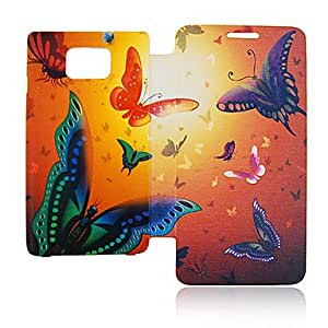 Butterfly Leather Case for Samsung Galaxy S2 I9100