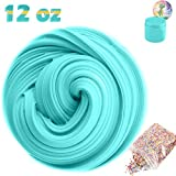 SLOUEASY Ocean Blue Fluffy Slime With Foam Beads, Non-sticky Jumbo Floam Slime Stress Relief Toy Scented DIY Putty Sludge Toy for Girls and Boys(7 oz)