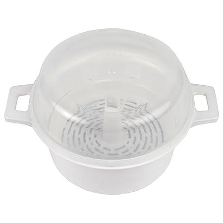 Home-x microondas redonda para cocer al vapor: Amazon.es: Hogar