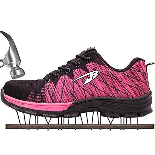 rosa SUADEEX Sicherheitsschuhe Hiking Stahlkappe Traillaufschuhe Wanderhalbschuhe 05 Arbeitsschuhe Herren Schuhe Trekking Sportlich Damen rr7fa