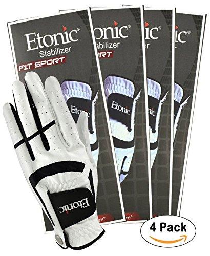 Etonic Golf- MLH Stabilizer F1T Sport Glove White/Black (4 (Etonic Mens Golf Glove)