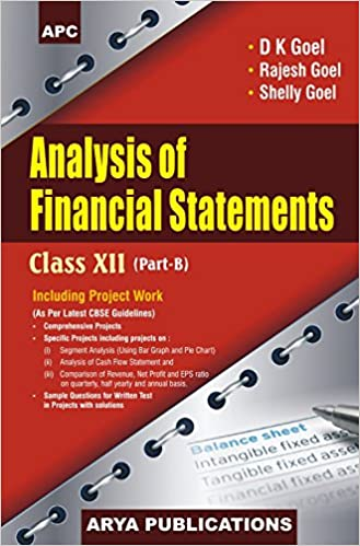 analysis of financial statements class xii part b including project