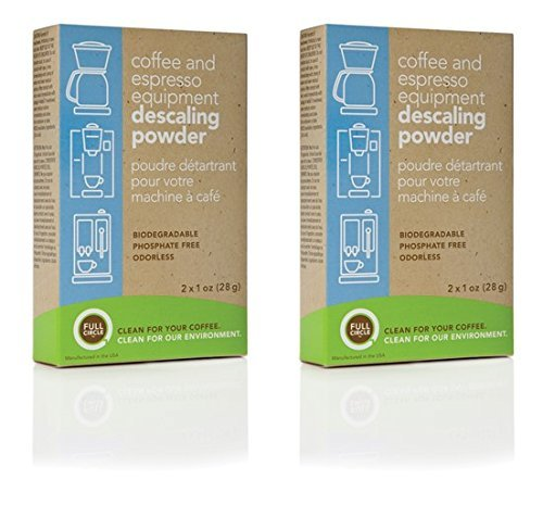 Urnex Full Circle Biodegradable Coffee and Espresso Equipment Descaling Powder, 4 X 1 Ounce (2-Boxes) (Espresso Machine Powder compare prices)