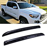 LUJUNTEC Aluminum Roof Mounted Roof Rack Cross Bar Set Fit for 2005-2018 Toyota Tacoma Double Cab Top Rail Carries Luggage Carrier