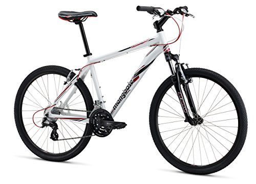 Mongoose M13SWICS1 Men's Switchback Comp Mountain Bike, White, 16