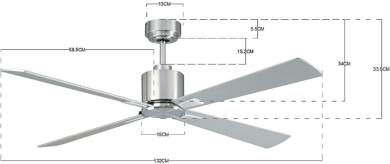 Lucci Air Airfusion CD52-BC - Ventilador de techo (cromo cepillado ...