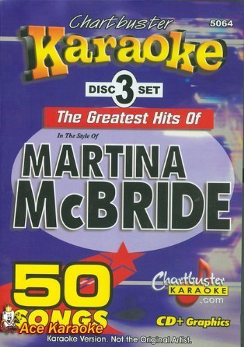Chartbuster Karaoke CDG CB5064 - The Greatest Hits of Martina McBride