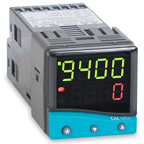 (CAL Controls 940000000 CAL 9400 Series 1/16 DIN Temperature Controller, 100 to 240 VAC, SSR Driver and Relay)