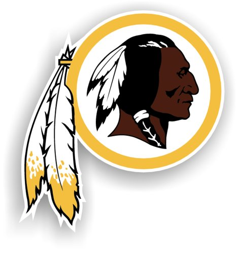 NFL Washington Redskins 12-Inch Vinyl Logo Magnet