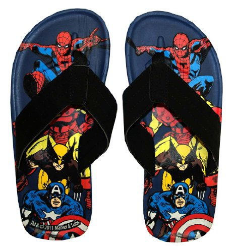 Marvel Comics Superheroes Men's Flip Flop Thong Sandals | L
