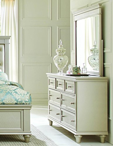 Homelegance Celandine 7 Drawer Dresser & Mirror in Silver - (Dresser Only) by Homelegance