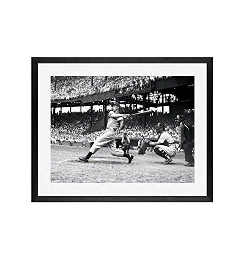 - Joe DiMaggio Framed – Yankees at Senators, June 29, 1941, Framed wall art, framed art New York Yankees, baseball, Mancave artwork,