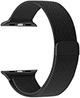 Promate Milanese Loop 38mm/40mm Apple Watch Strap, Premium Stainless-Steel Mesh Milanese Replacement Strap with Secure...
