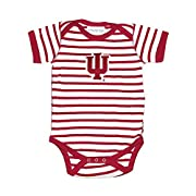 Indiana Hoosiers Striped NCAA College Newborn Infant Baby Creeper (12 Months)