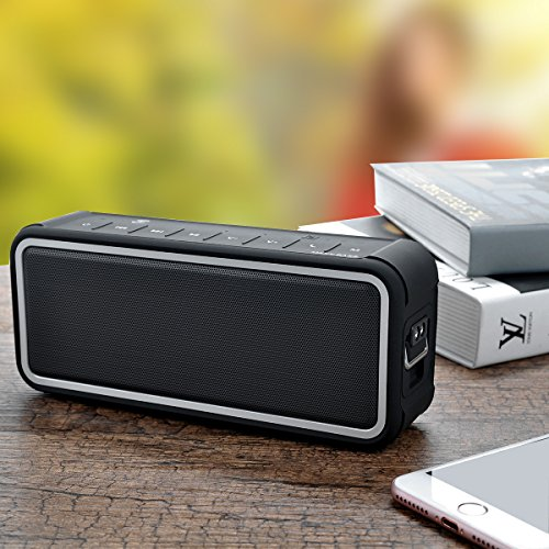 (Pi Quartet Waterproof Wireless Bluetooth 4.0 Portable Speaker with UK Professional DSP and MaxBass Technology with 4400mAh Battery Power Bank with Micro SD Slot MP3 Playback Feature)
