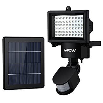 60 LED Garden Solar Lights, Mpow Solar Powered Motion Sensor Light, Waterproof Security Lights ...
