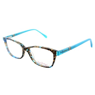 6512252ab9 Image Unavailable. Image not available for. Color  Lilly Pulitzer Bohdie SH  Shell Tortoise Plastic Rectangle Eyeglasses 50mm