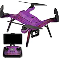 MightySkins Protective Vinyl Skin Decal for 3DR Solo Drone Quadcopter wrap cover sticker skins Purple Sky