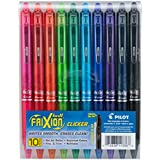 PILOT FriXion Clicker Erasable, Refillable & Retractable Gel Ink Pens, Fine Point, Assorted Color Inks, 10-Pack Pouch (11336)