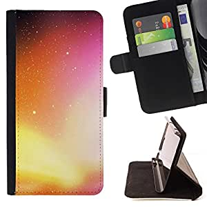DEVIL CASE - FOR HTC One M9 - Neon Galaxy - Style PU Leather Case Wallet Flip Stand Flap Closure Cover