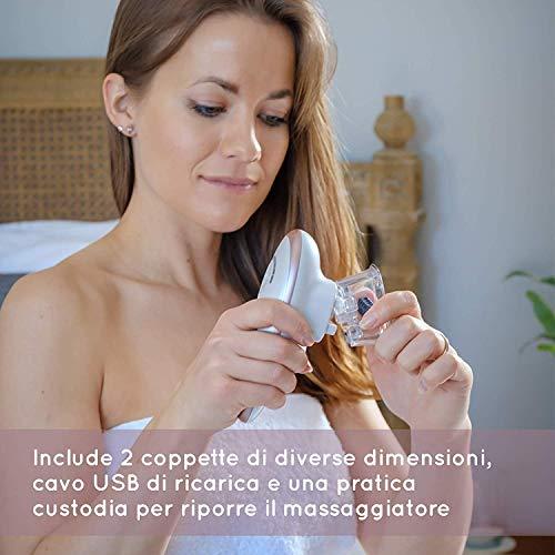 HoMedics Smoothee – Massaggiatore Anti Cellulite ad aspirazione per pelle liscia, Disintossica la pelle, Riduce la buccia d'arancia, ritenzione di liquidi, Attiva il metabolismo, Trattamenti da 30′