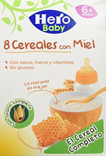 Hero Babynatur - 8 Cereales Miel 500 gr - Pack de 6 (Total 3000 grams): Amazon.es: Alimentación y bebidas