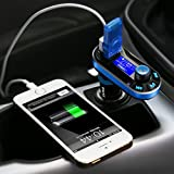 [Upgraded Version] VicTsing Bluetooth MP3 Player FM Transmitter Hands-free Car Kit Charger, Dual USB Charging 5V/2.1A Output, Micro SD/TF Card Reader Slot for iPhone 7 SE 6s 6s Plus iPhone 6 6 Plus, Samsung Galaxy S6 S6 Edage S7 S7 Edage, iPad, etc - Silver Bild 7