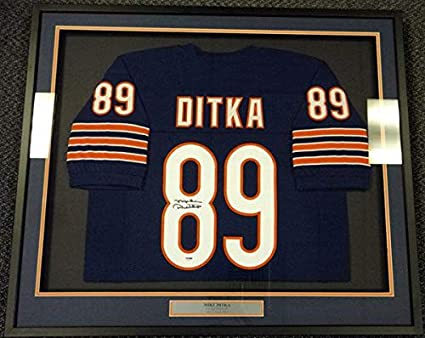 save off d4f2c 9adfe Mike Ditka Signed Jersey - Framed Blue Stock #90519 - PSA ...