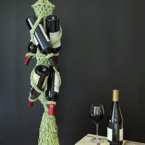 Wine Bottle Christmas Tree Rack.Amazon Com Christmas Tree Wine Holder Rack Macrame Art