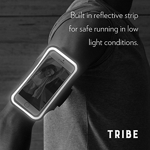 Tribe AB66 Water Resistant Sports Armband with Key Holder for iPhone 7 Plus, 6 Plus, 6S Plus (5.5 Inch), Galaxy S6/S5, Note 4 Bundle with Screen Protector