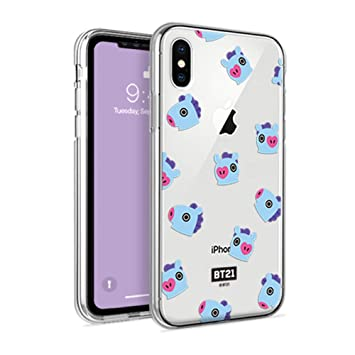 f3de9848fa Amazon | [Galaxy S9 Plus] BT21 正規品 Clear Pattern Jelly Case 防弾 ...