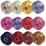 S-Lon Beading Thread Mixture 12 Colors Size D Flower Colors