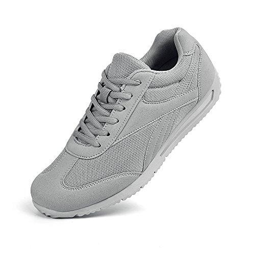 Feetmat Herren Laufschuhe Fashion Sneakers Leichte atmungsaktive Sport Wanderschuhe Grau