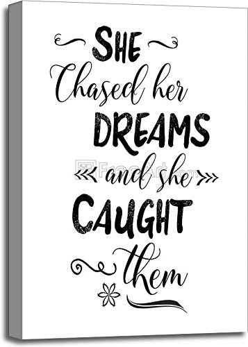 She Chased Her Dreams And She Caught Them Gallery Wrapped Canvas Art (30in. x 20in.)