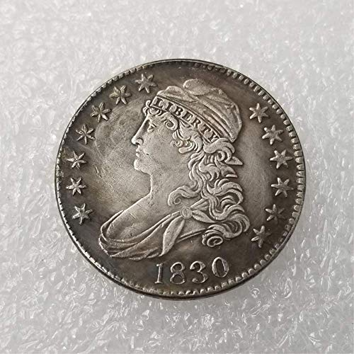 MarshLing Great United States Liberty (1812-1836) Old 50-Cents Coins - History Commemorative Gift Coin-Great Teaching Tool for Kids-It is Handmade Crafts Perfect Quality 1830