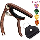 Capo Guitar Capo -for 6-String Acoustic & Electric Guitar-Zinc Alloy Trigger Capo & Free 4 Pick