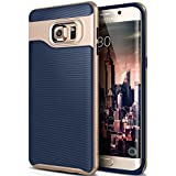Galaxy S6 Edge Plus Case, Caseology [Wavelength Series] Slim Dual Layer Protection Textured Grip Protective Cover [Navy Blue] for Samsung Galaxy S6 Edge Plus