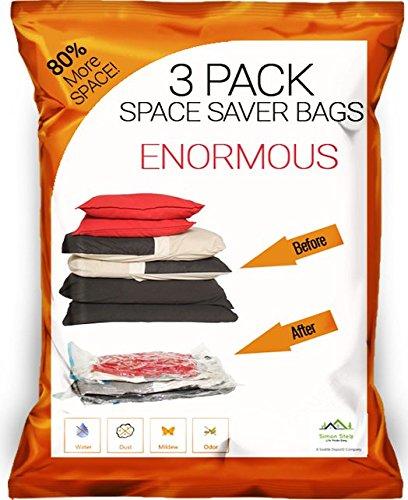 Simon Stelz Enormous Premium Vacuum Storage Bags - 3 Pack. L