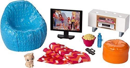 Tv Accessories Movie (Barbie Movie Night & Accessories Playset)