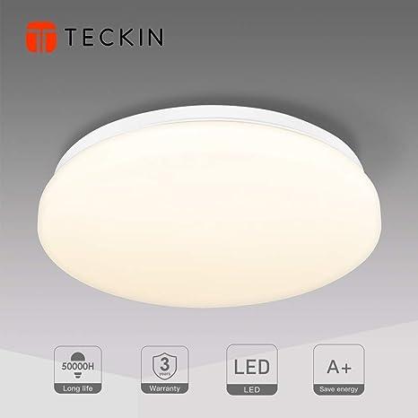 Lámpara de Techo,Luz de Techo LED,Downlight Plafon de Techo Colgantes Superficie,Pantallas de Lamparas,Luz Blanca Cálida, Teckin Plafón Luminoso de ...
