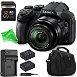 Panasonic LUMIX DMC-FZ300K ALL YOU NEED Digital Camera BUNDLE – Panasonic LUMIX DMC-FZ300K Digital Camera + 32GB SD + Replacement Battery + Replacement Charger + Camera Case + DigitalAndMore Cloth