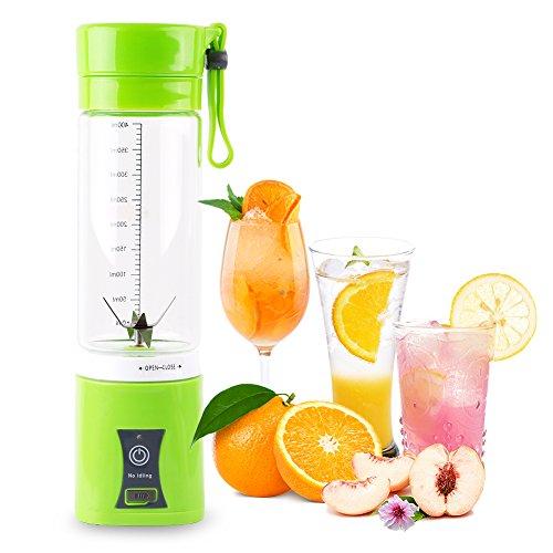 GoodTend GTAM6009-GRN Portable Juice Blender, 13.7 oz, Green ()