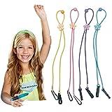 Adjustable Length Lanyard for Face_Masks, 4 Pcs Kids Cartoon Lanyard Convenient Glasses Holder Rope, Neck Strap for…
