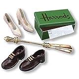 Dollhouse Miniature Harrods Shoe Set by Reutter Porcelain