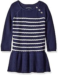 Solid blue toddler dress