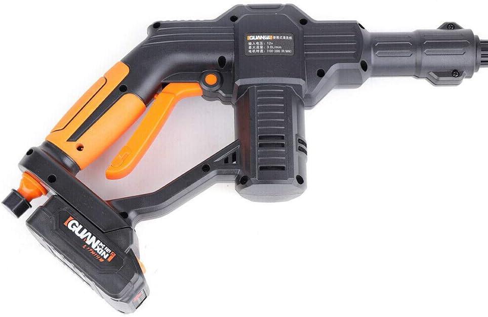 bater/ía de iones de litio manguera pistola de riego Limpiador inal/ámbrico port/átil de alta presi/ón de 12 V limpieza y desinfecci/ón