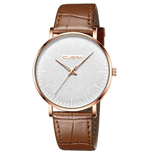 Price comparison product image Brand Luxury Mens Watches Ultra-Thin Analog Quartz Wrist Watch Business Watch Outsta for Men Boys Gift Holiday Present (E)